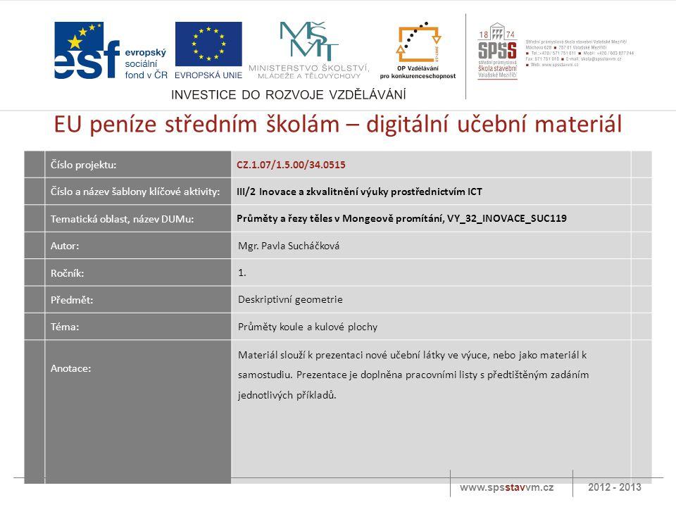 EU peníze středním školám – digitální učební materiál