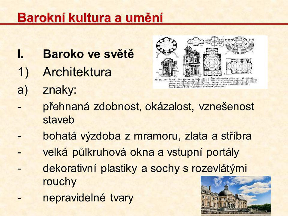 Barokní kultura a umění