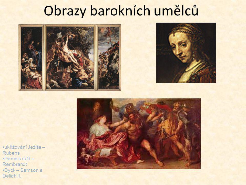 Obrazy barokních umělců