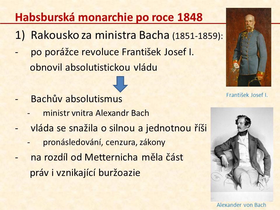 Habsburská monarchie po roce 1848