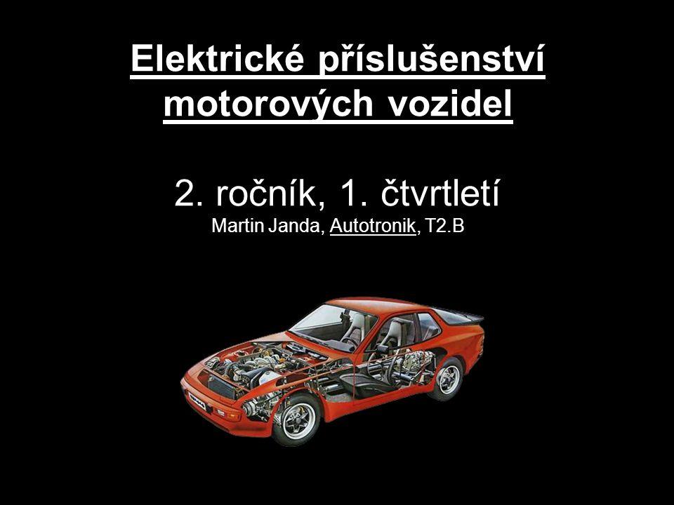 Elektrické příslušenství motorových vozidel 2. ročník, 1