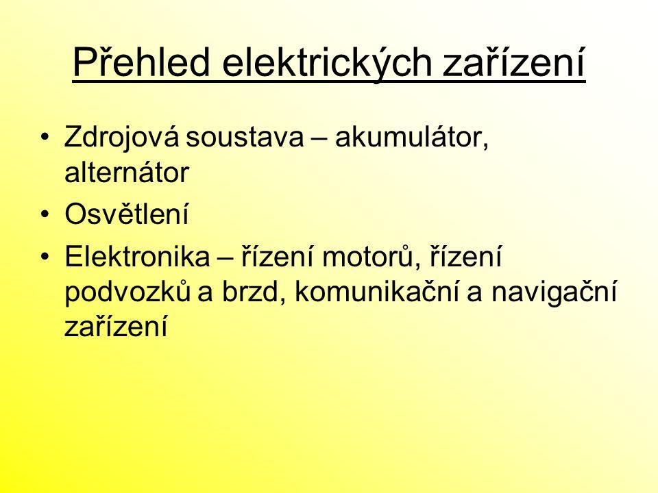 Přehled elektrických zařízení