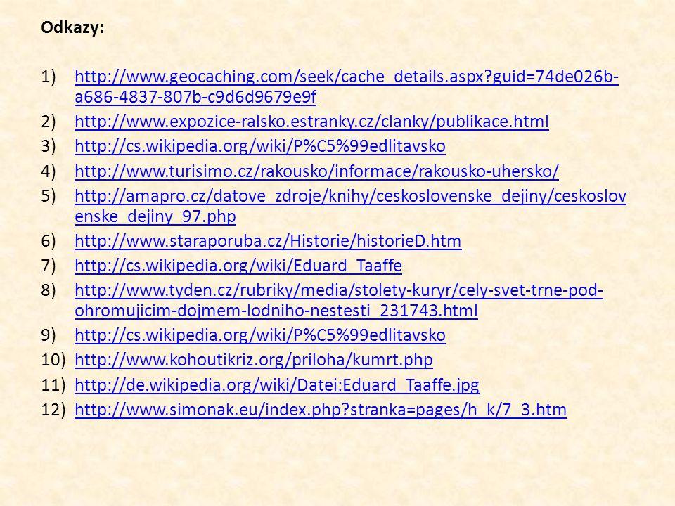 Odkazy: http://www.geocaching.com/seek/cache_details.aspx guid=74de026b-a686-4837-807b-c9d6d9679e9f.