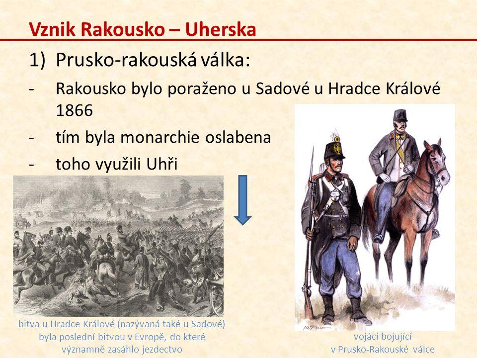 vojáci bojující v Prusko-Rakouské válce