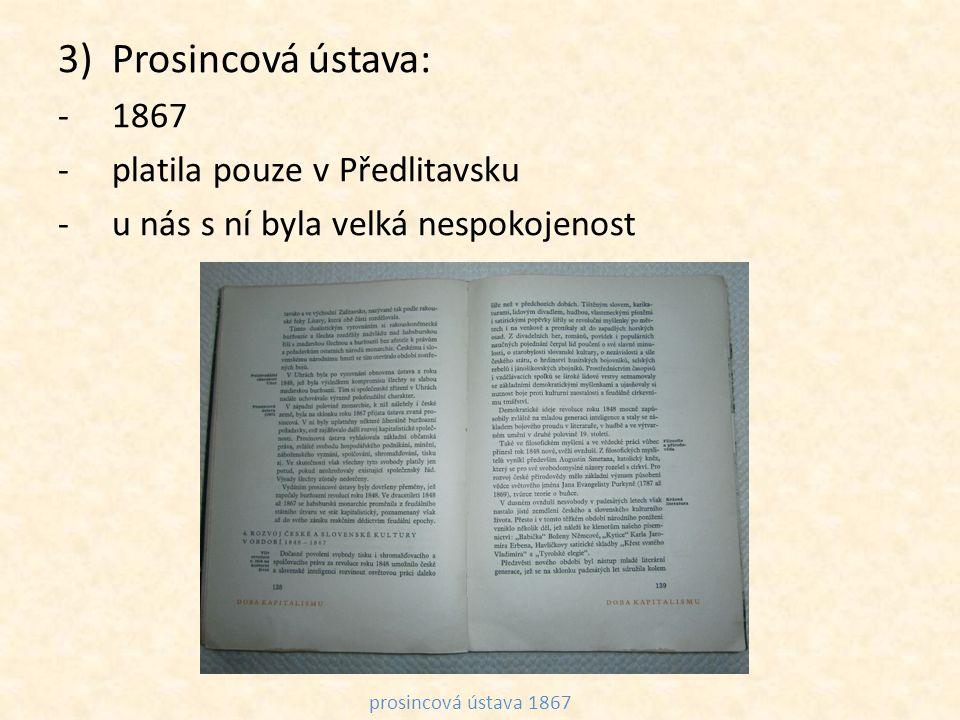 Prosincová ústava: 1867 platila pouze v Předlitavsku
