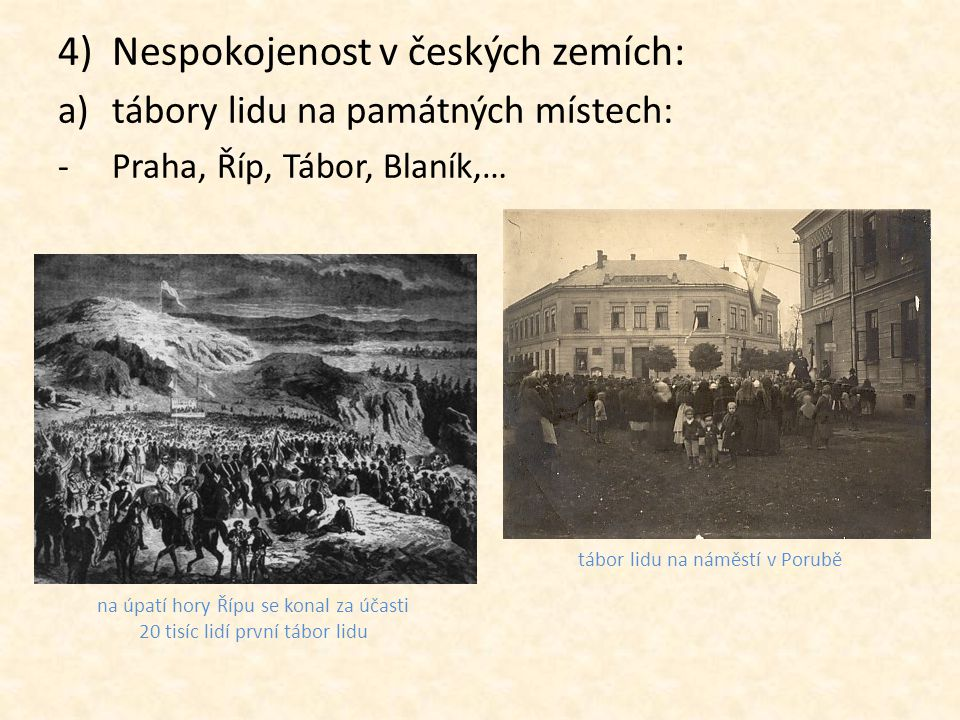 Nespokojenost v českých zemích: