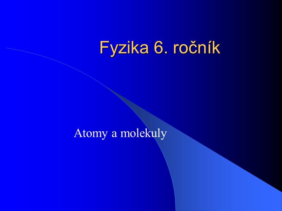 Fyzika 6. ročník Atomy a molekuly