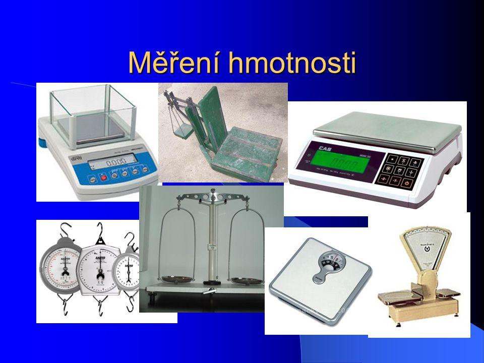 Měření hmotnosti