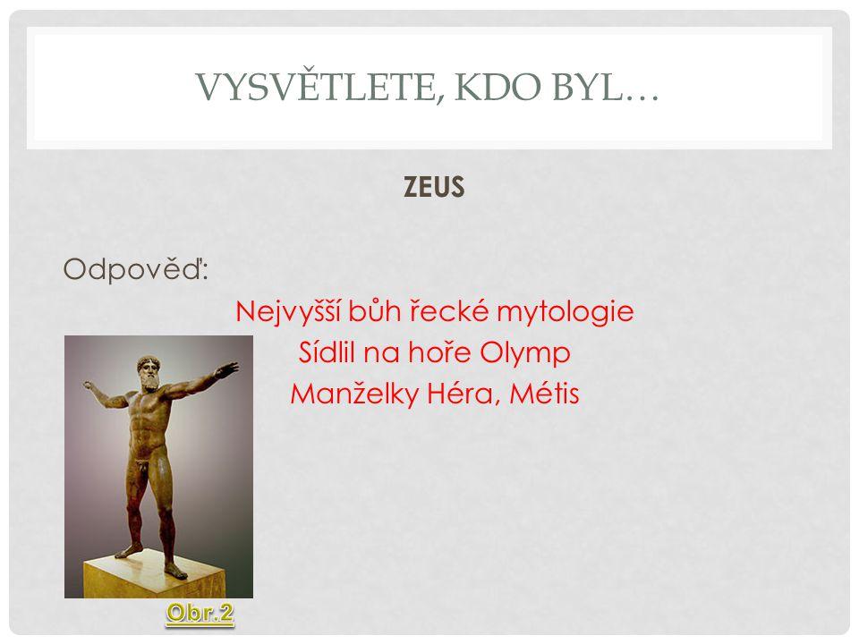 Nejvyšší bůh řecké mytologie