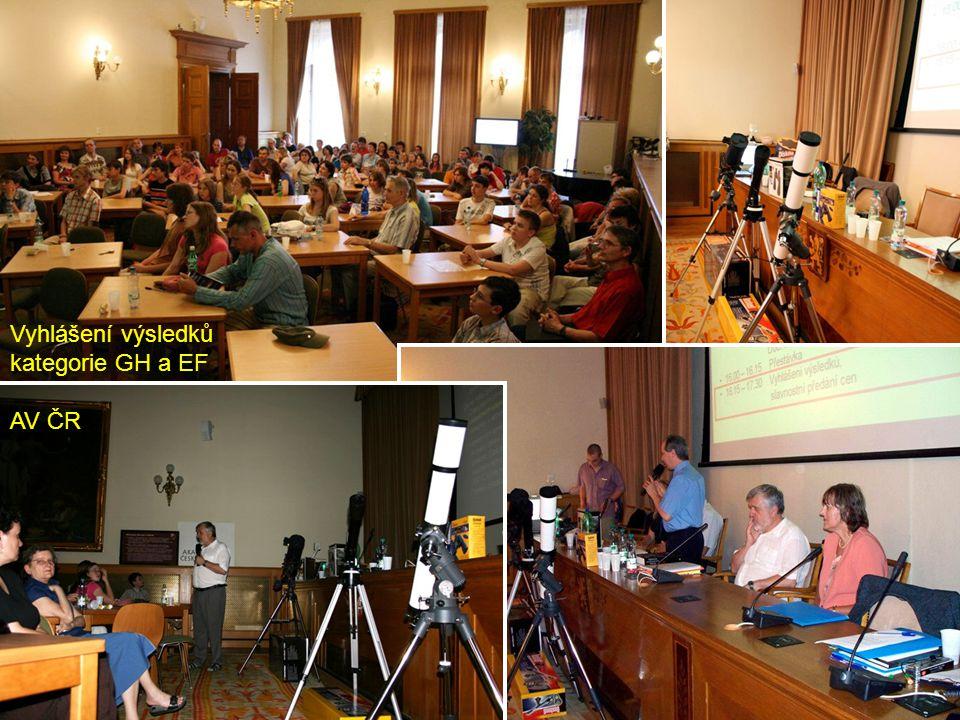 Vyhlášení výsledků kategorie GH a EF AV ČR