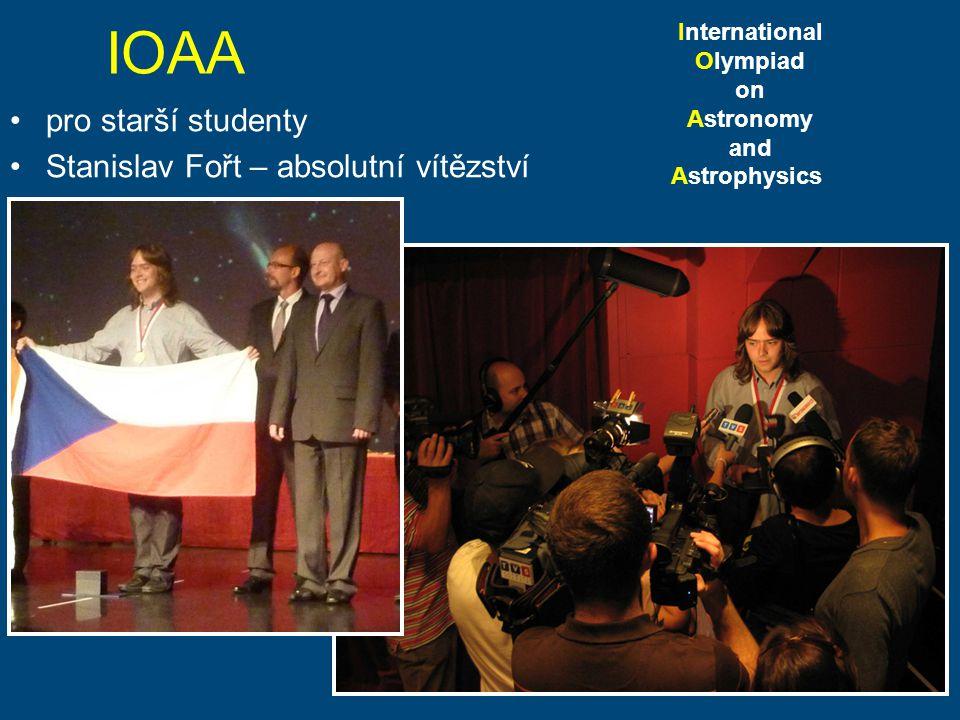 IOAA pro starší studenty Stanislav Fořt – absolutní vítězství