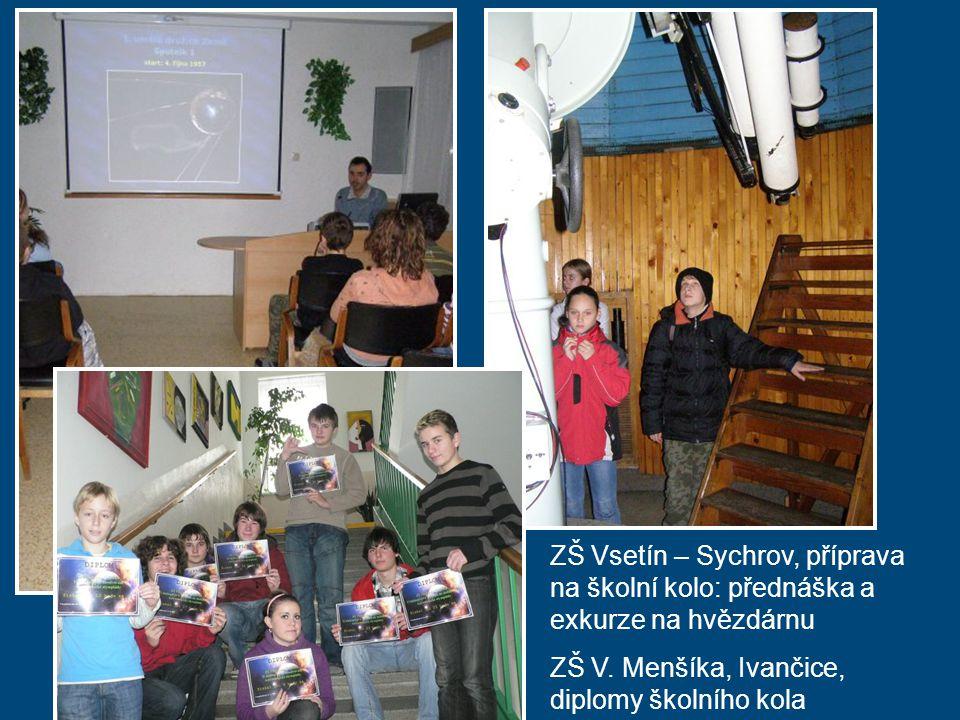 ZŠ Vsetín – Sychrov, příprava na školní kolo: přednáška a exkurze na hvězdárnu