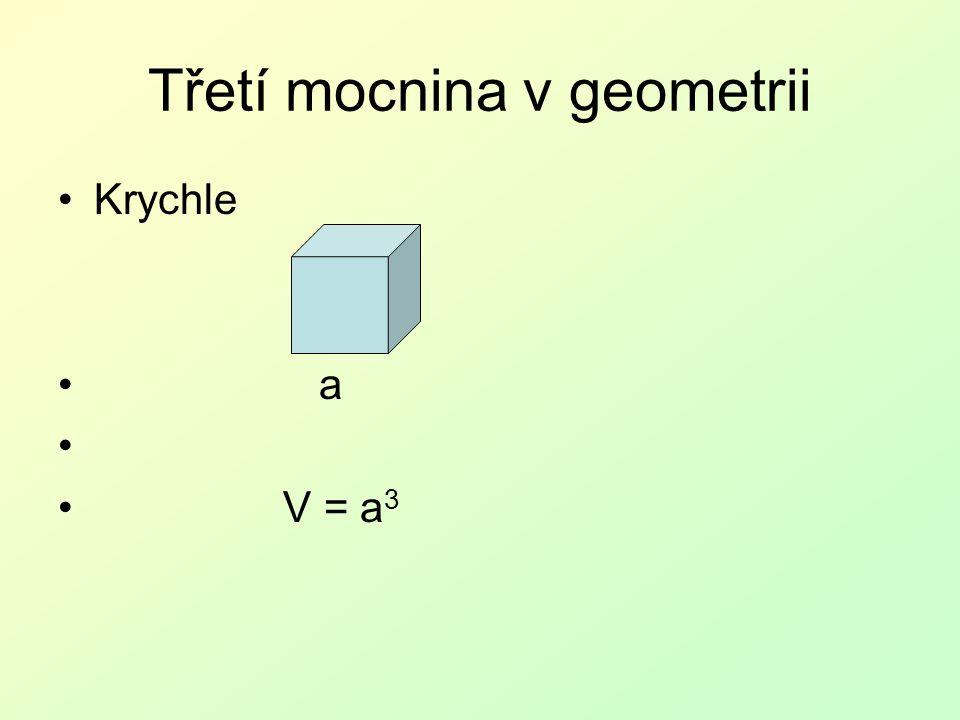 Třetí mocnina v geometrii