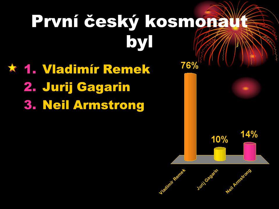 První český kosmonaut byl
