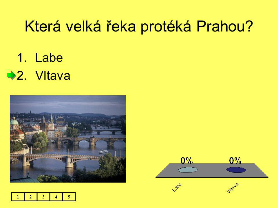 Která velká řeka protéká Prahou