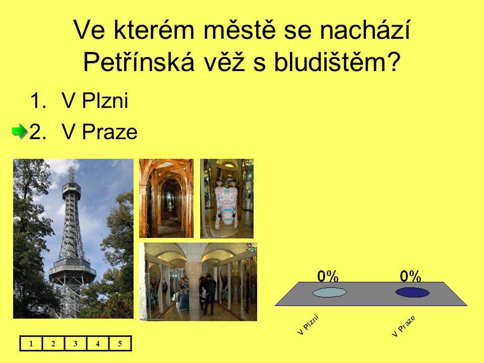 Ve kterém městě se nachází Petřínská věž s bludištěm