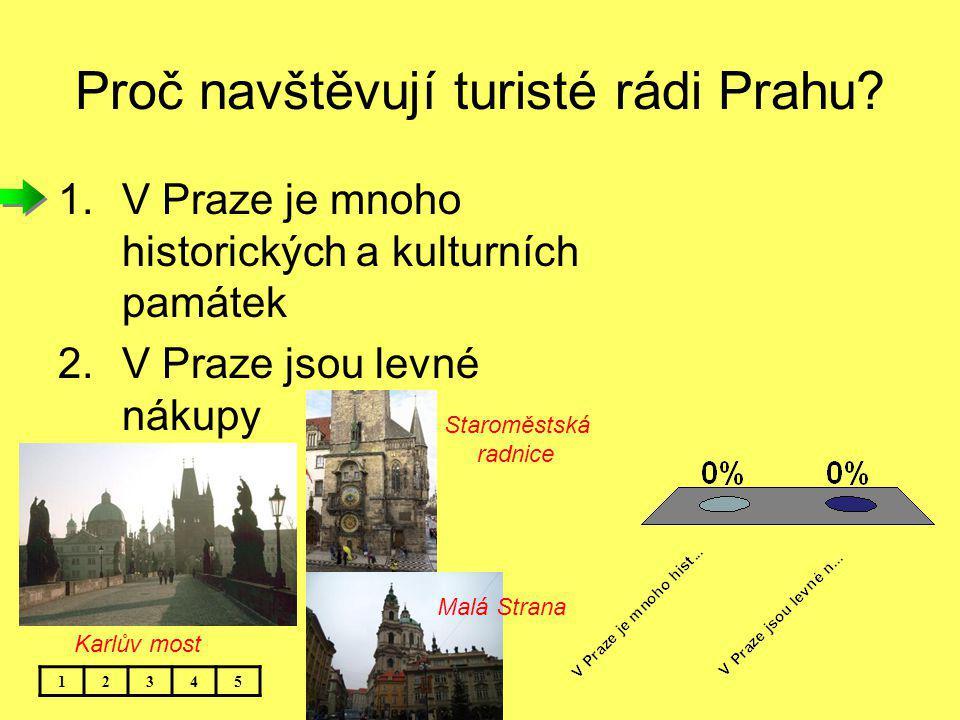 Proč navštěvují turisté rádi Prahu