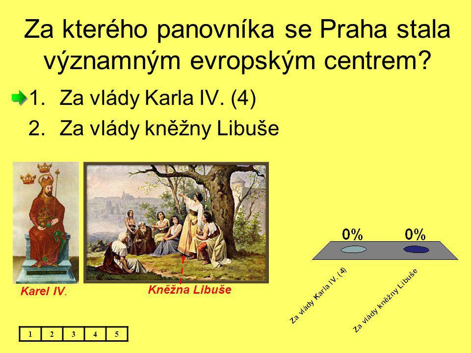 Za kterého panovníka se Praha stala významným evropským centrem