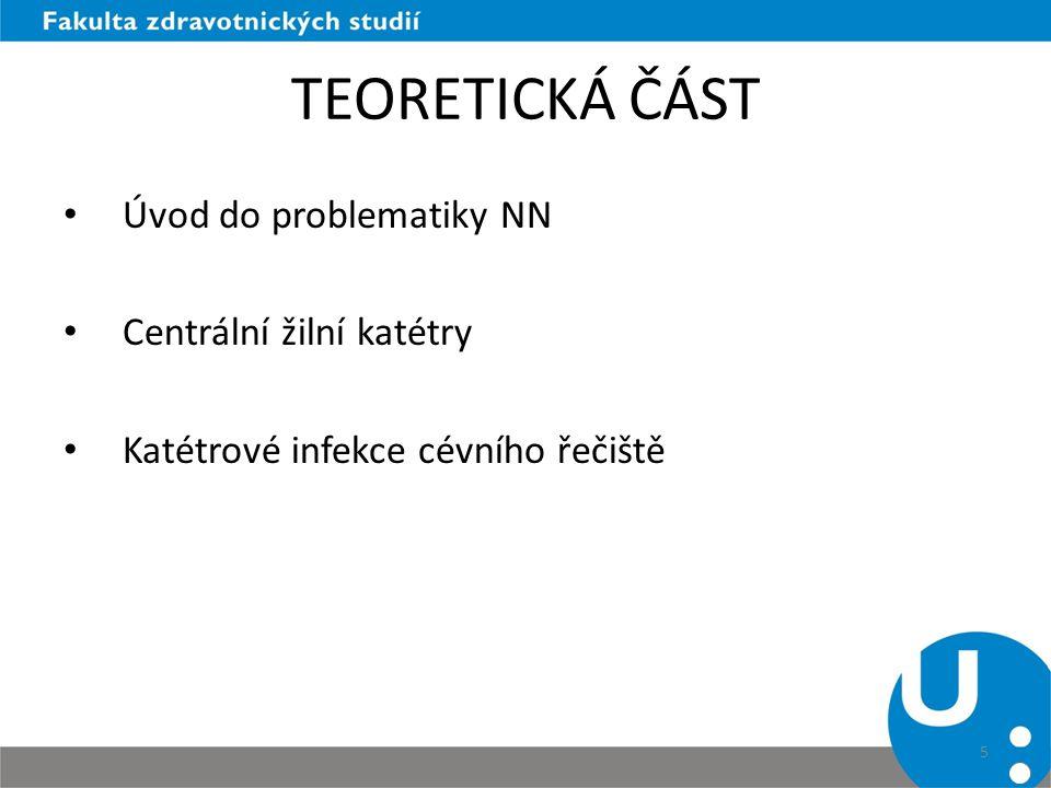 TEORETICKÁ ČÁST Úvod do problematiky NN Centrální žilní katétry
