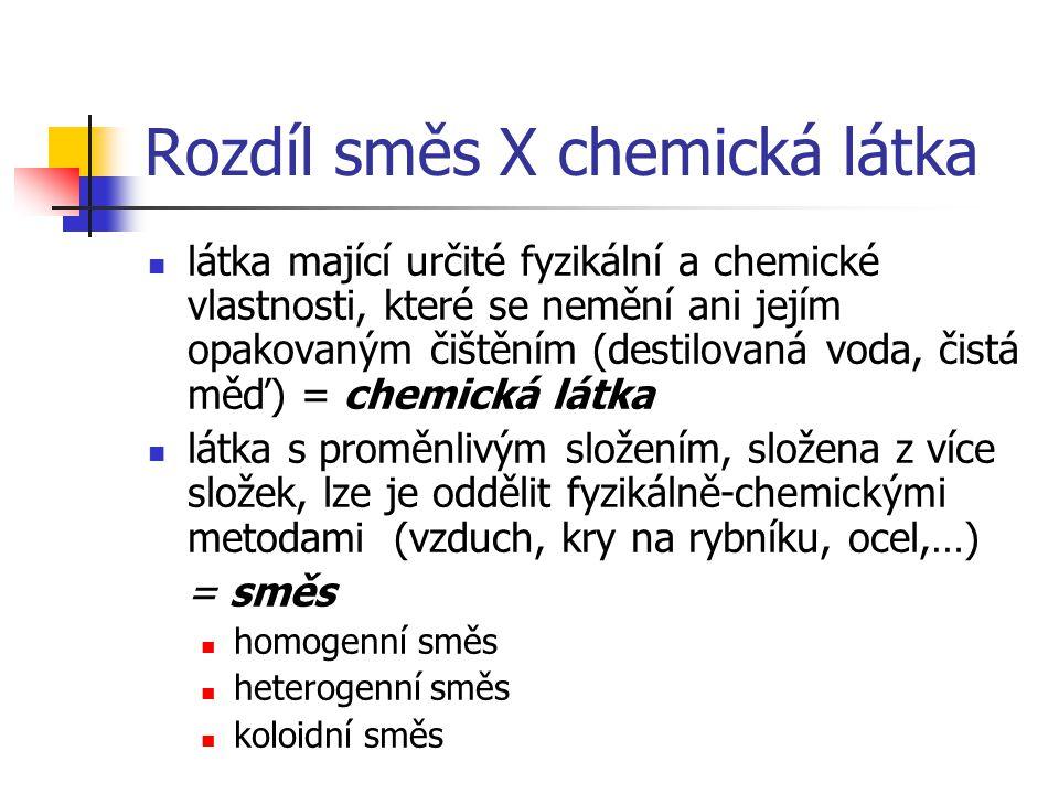 Rozdíl směs X chemická látka
