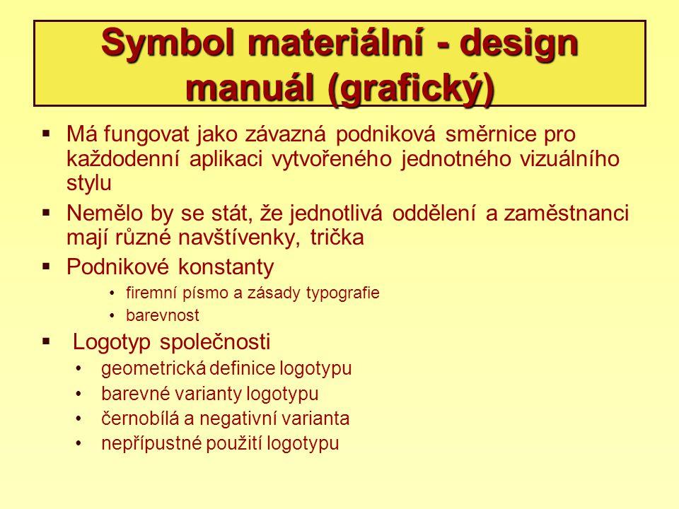 Symbol materiální - design manuál (grafický)