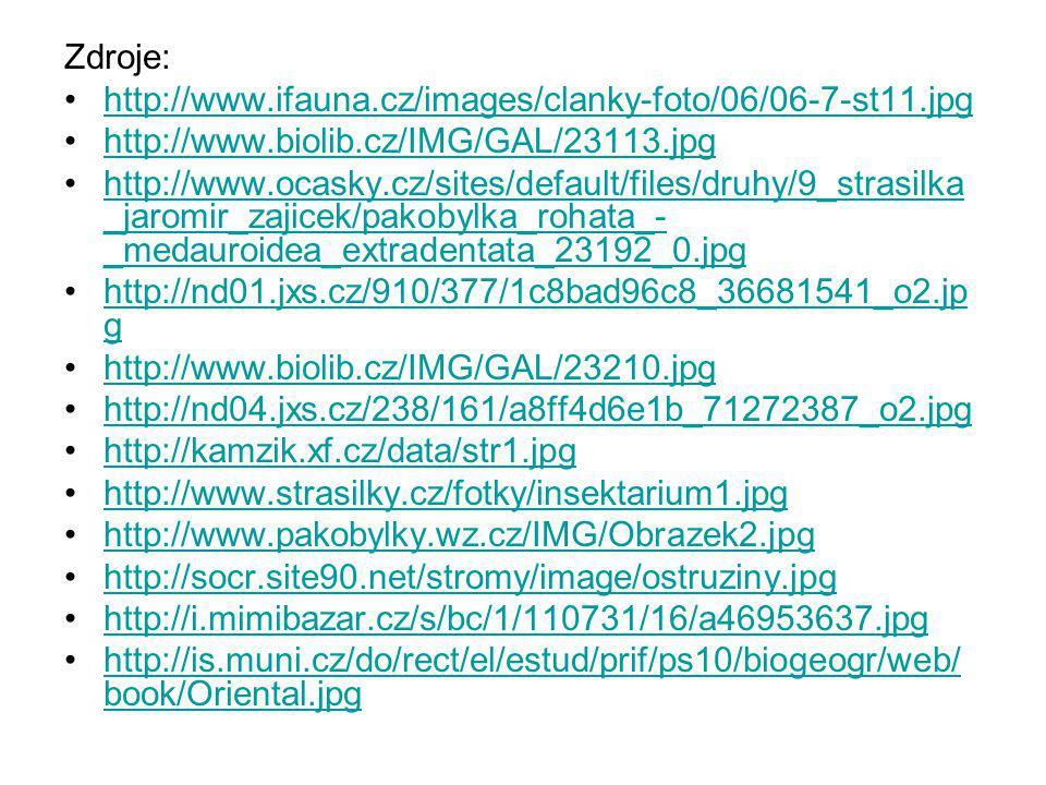 Zdroje: http://www.ifauna.cz/images/clanky-foto/06/06-7-st11.jpg. http://www.biolib.cz/IMG/GAL/23113.jpg.