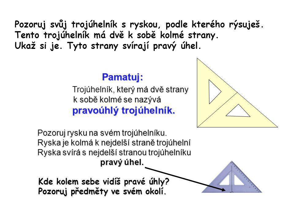 Trojúhelník, který má dvě strany pravoúhlý trojúhelník.