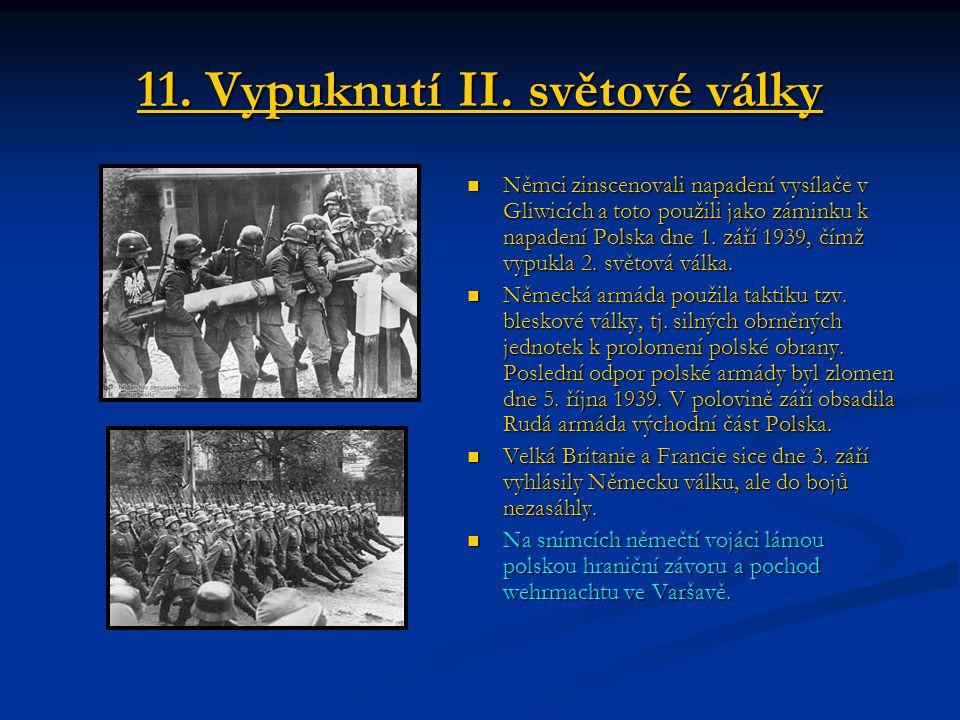 11. Vypuknutí II. světové války