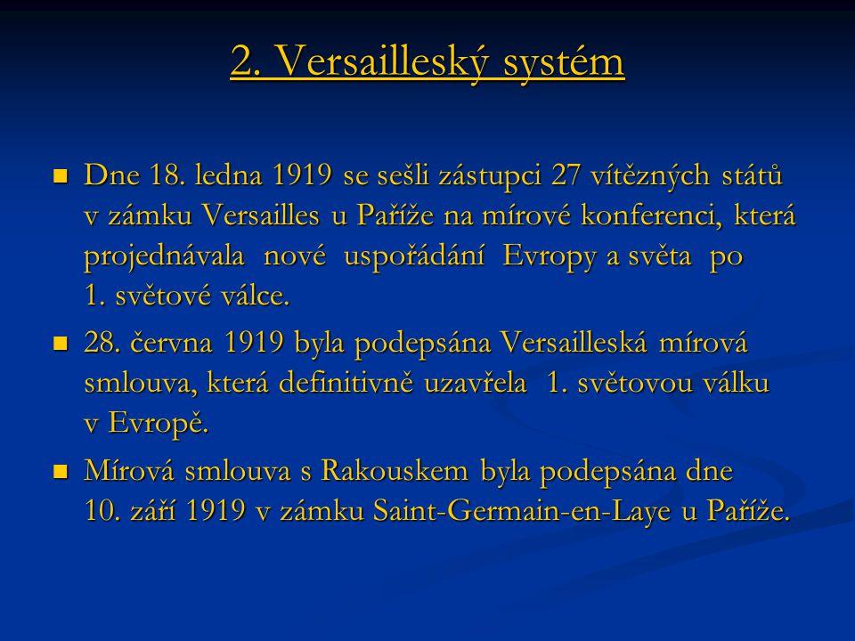 2. Versailleský systém
