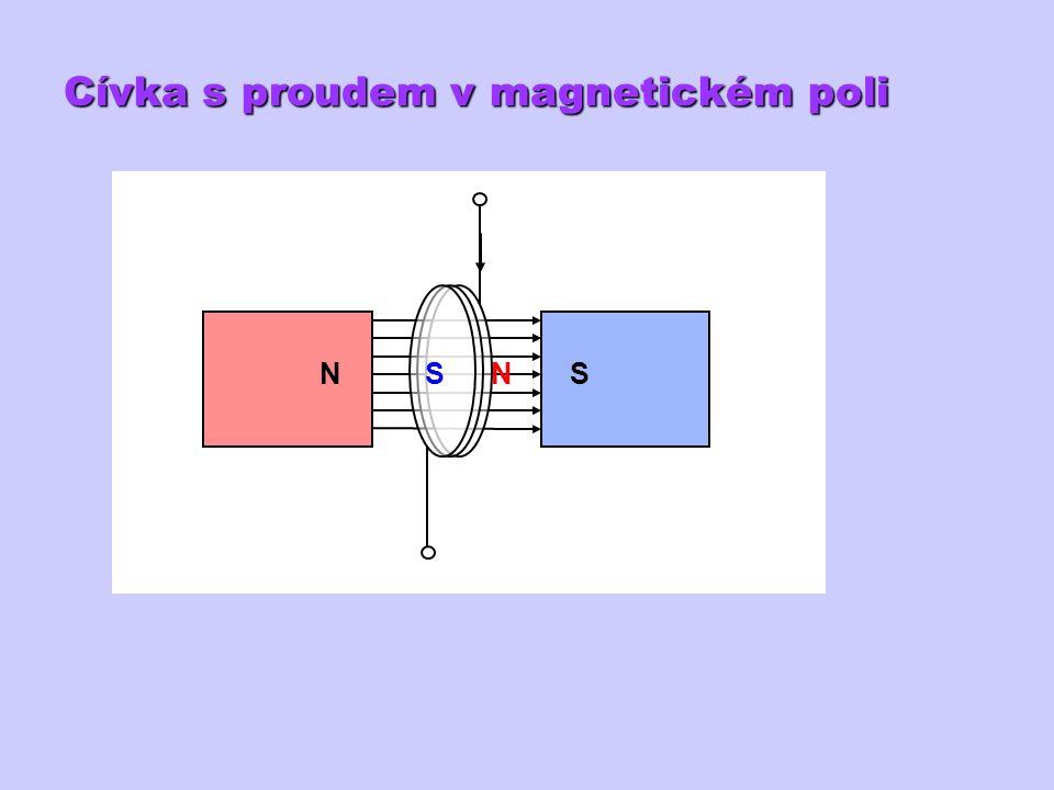 Cívka s proudem v magnetickém poli