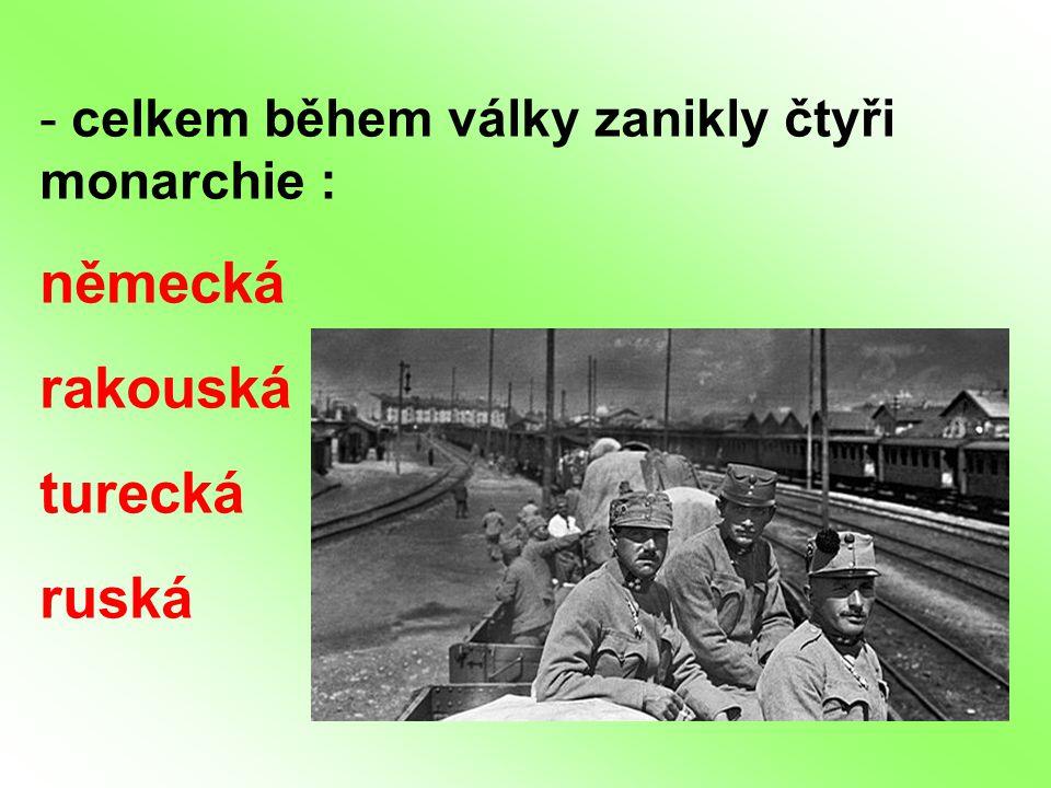 německá rakouská turecká ruská