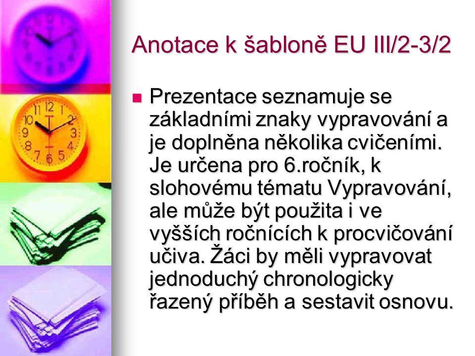 Anotace k šabloně EU III/2-3/2
