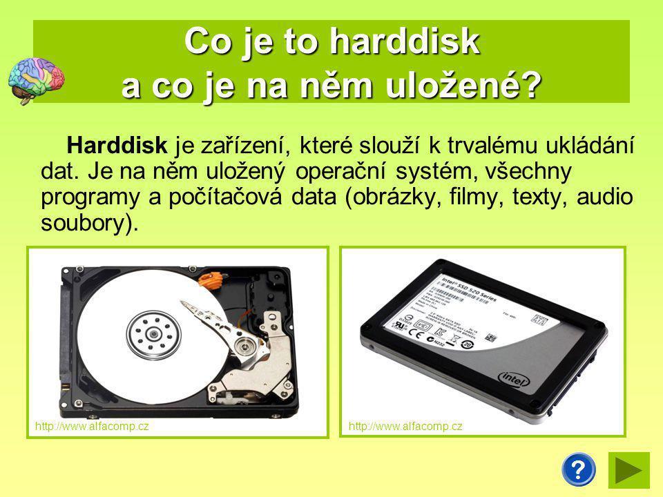 Co je to harddisk a co je na něm uložené