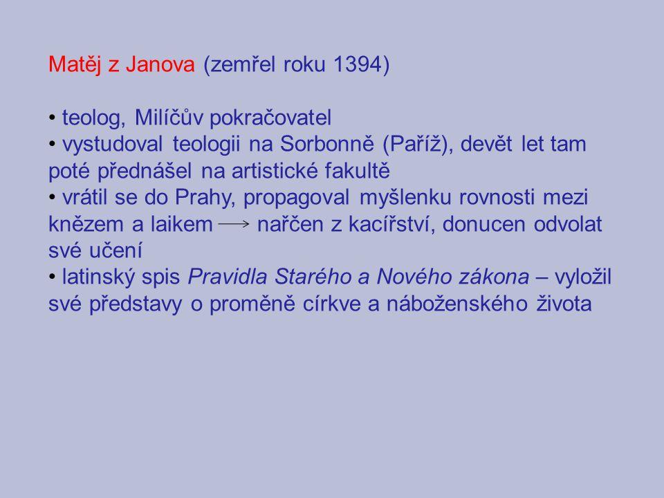 Matěj z Janova (zemřel roku 1394)