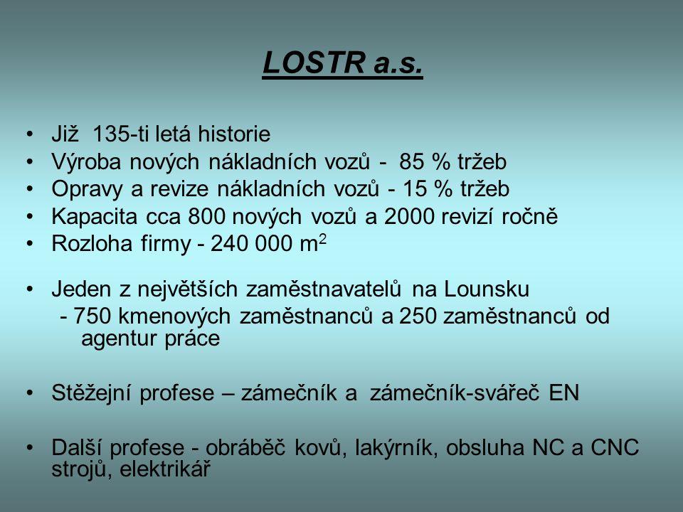 LOSTR a.s. Již 135-ti letá historie