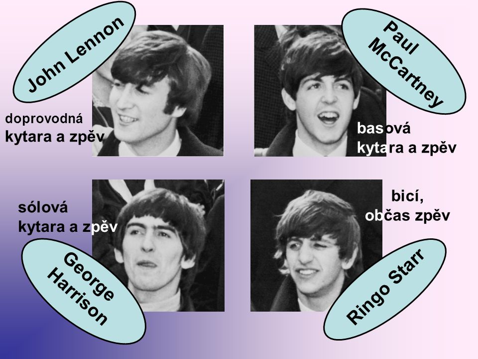 John Lennon Paul McCartney Ringo Starr George Harrison