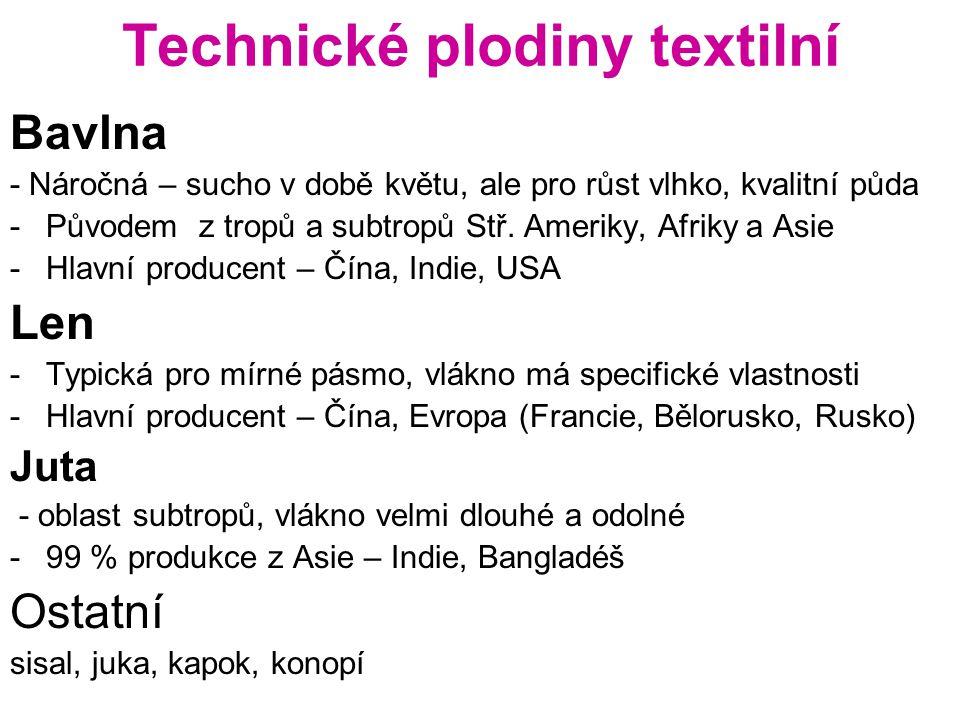 Technické plodiny textilní