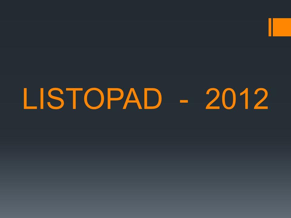 LISTOPAD - 2012