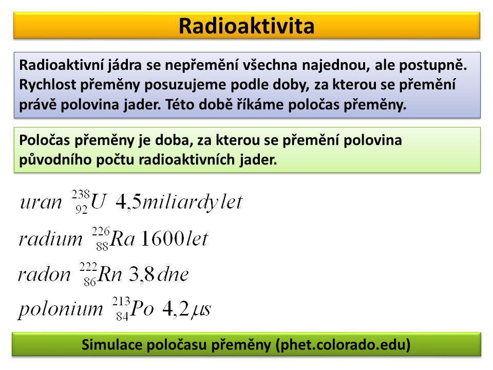 Simulace poločasu přeměny (phet.colorado.edu)
