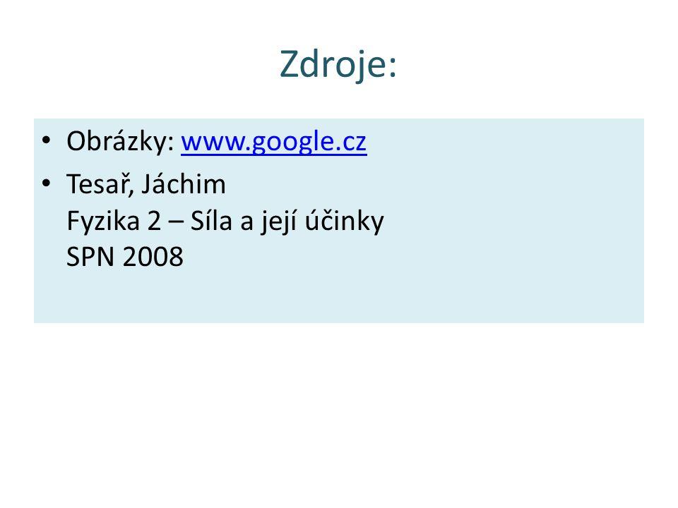 Zdroje: Obrázky: www.google.cz