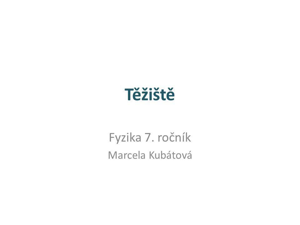 Fyzika 7. ročník Marcela Kubátová