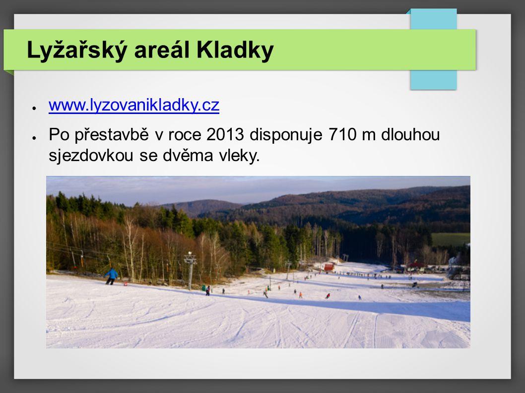Lyžařský areál Kladky www.lyzovanikladky.cz