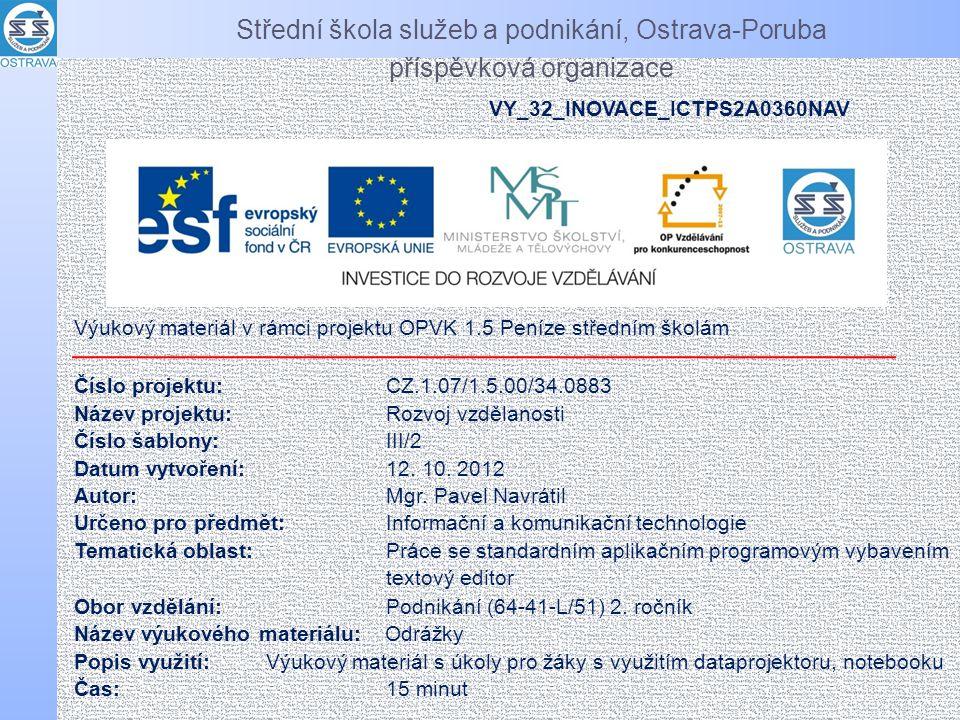 Střední škola služeb a podnikání, Ostrava-Poruba