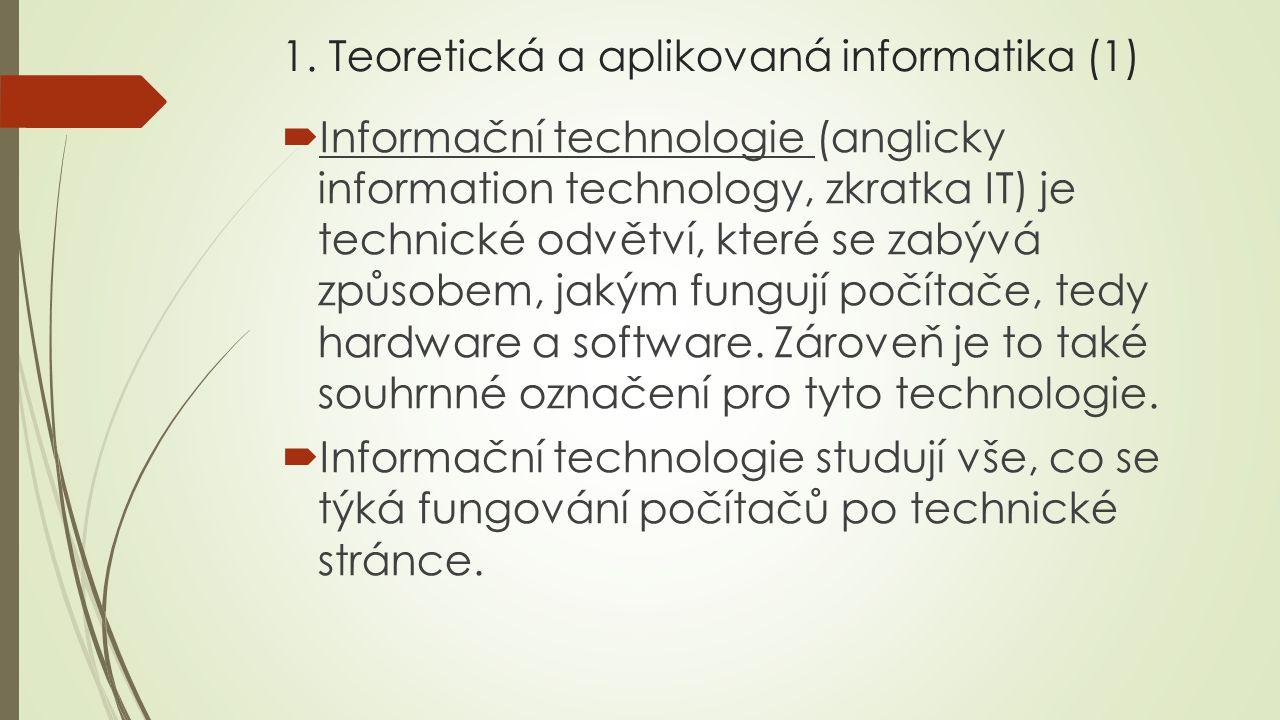 1. Teoretická a aplikovaná informatika (1)