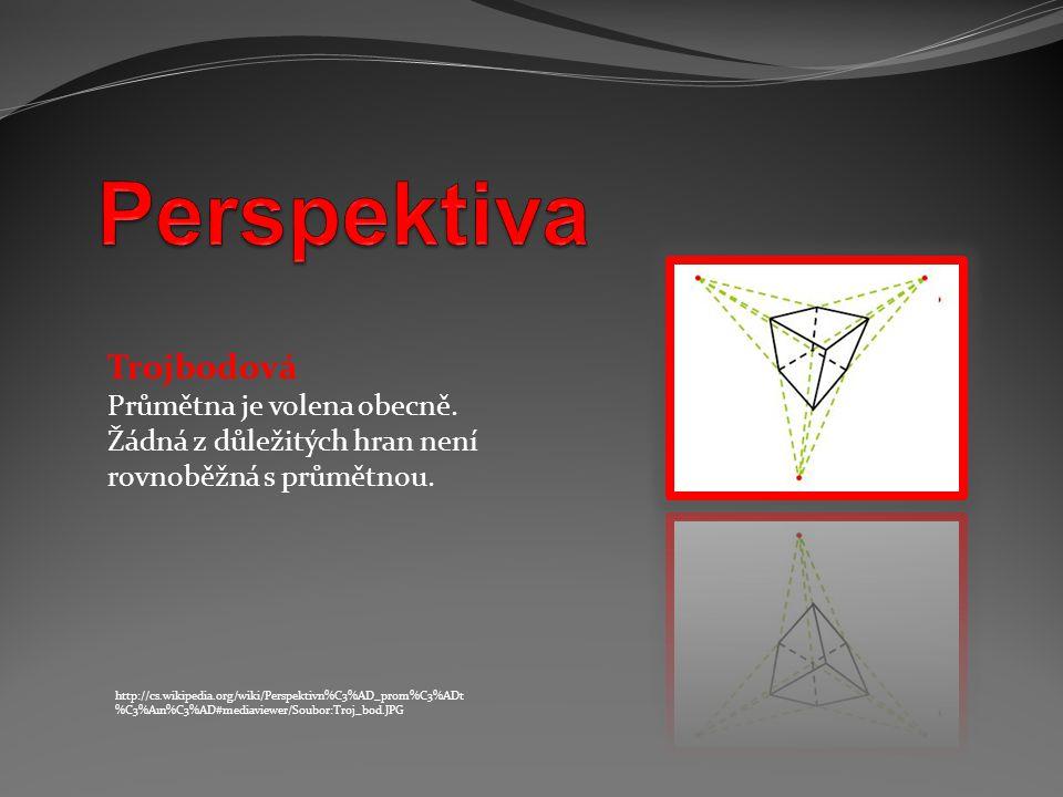 Perspektiva Trojbodová Průmětna je volena obecně.