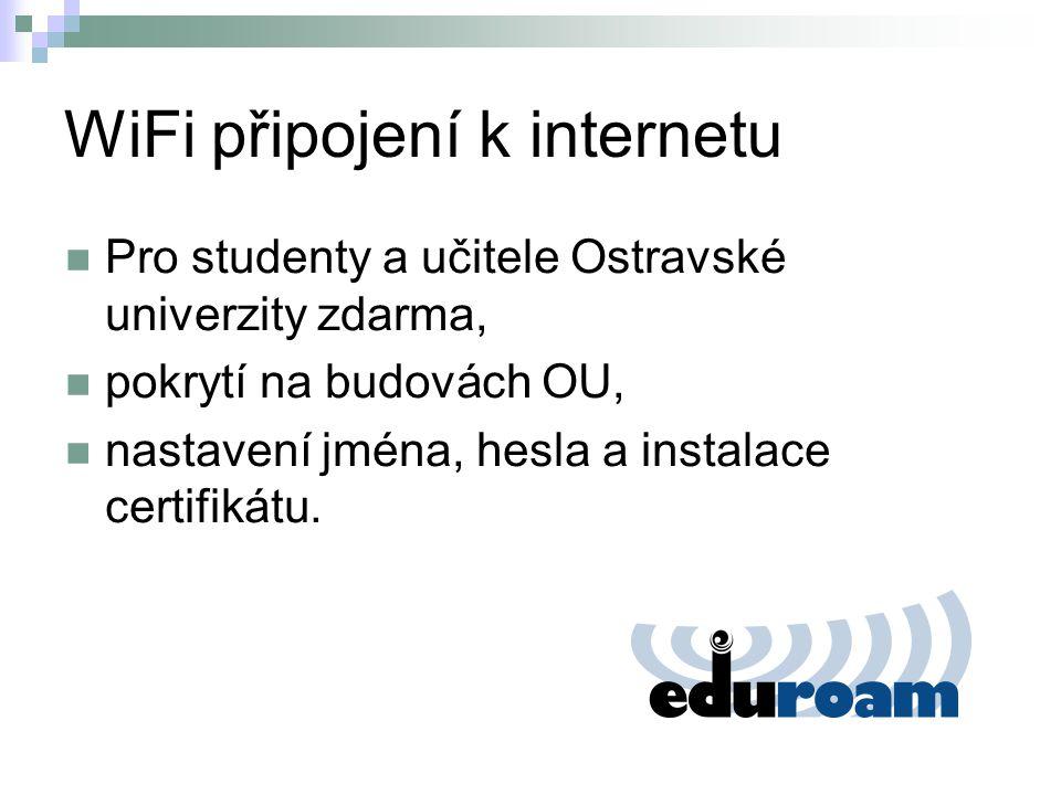 WiFi připojení k internetu