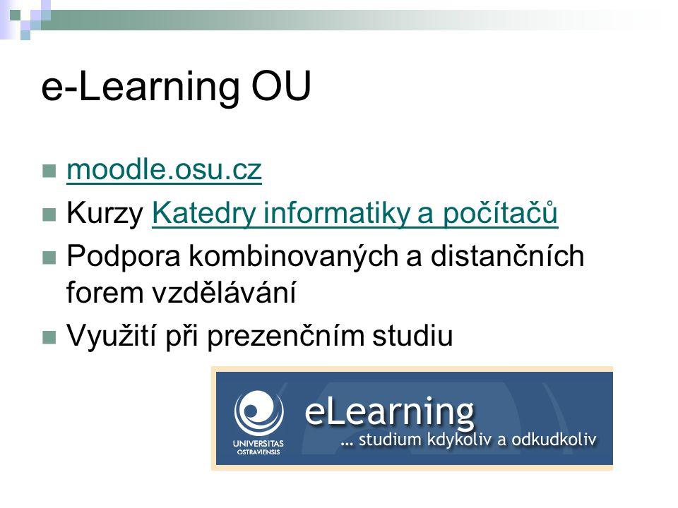 e-Learning OU moodle.osu.cz Kurzy Katedry informatiky a počítačů