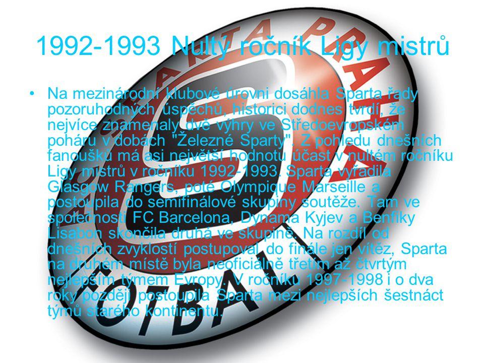 1992-1993 Nultý ročník Ligy mistrů
