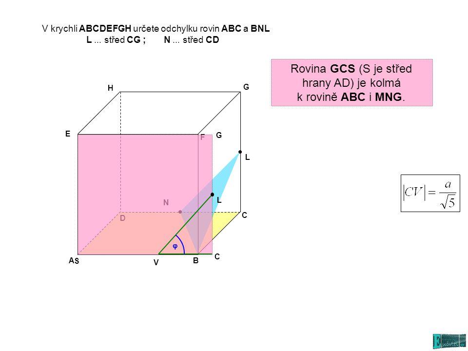 Rovina GCS (S je střed hrany AD) je kolmá