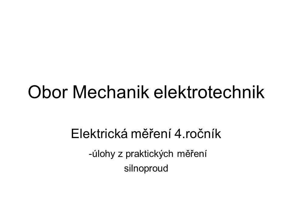 Obor Mechanik elektrotechnik